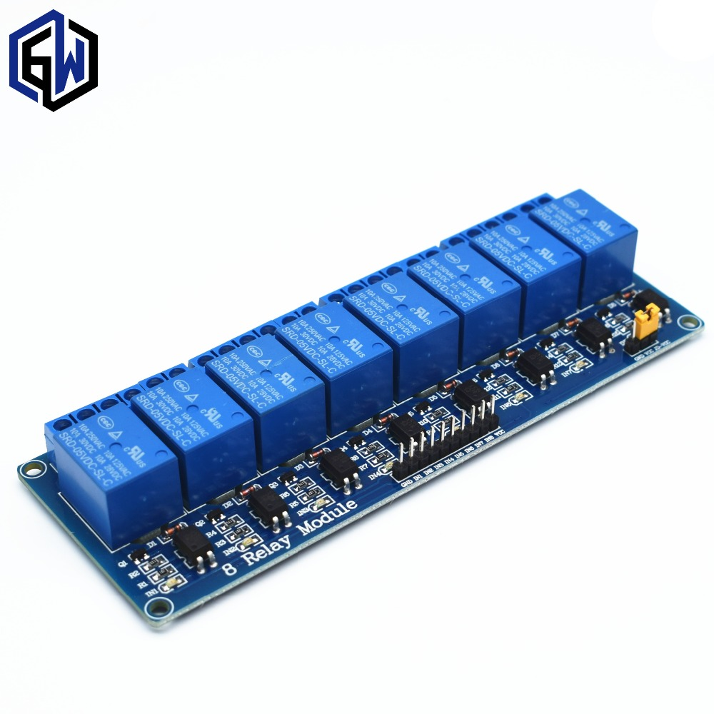 TENSTAR ROBOT 10pcs With optocoupler 8 channel 8 channel relay module relay control panel PLC relay