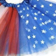 Детская юбка-пачка для девочек красный, Белый Королевский синий 4th июля юбка-пачка для праздника