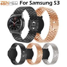 22mm band for Samsung Gear S3 Classic/S3 Frontier/galaxy watch 46mm Adjustable Stainless Steel Strap For Huawei Watch GT Wrist new stainless steel watch band wrist strap 22mm for samsung galaxy watch 46mm smart accessories for samsung gear s3 frontier