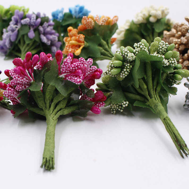 12 قطع الزهور السداة الاصطناعي التوت اكاليل diy اكليلا الزفاف الديكور كرافت جارلاند ديكور الزهور