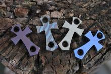 H Cross Titanium Alloy TC4 Knife Beads Man  Pendant String Rope Multi Tools EDC Outdoor Zipper Pull Lanyard