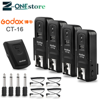 New Godox CT 16 16 Channels Wireless Radio Flash Trigger Transmitter + Receiver Set for Canon Nikon Pentax Studio Flash
