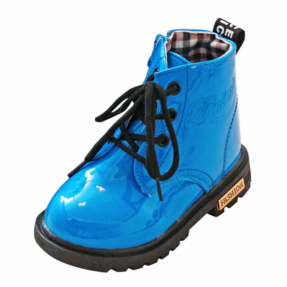 หิมะรองเท้าสำหรับชายรองเท้าเด็กฤดูหนาวรองเท้าอุ่นเด็ก Martin รองเท้าผ้าใบฤดูหนาวหิมะอบอุ่นรองเท้าบูท Anti รองเท้าลื่น