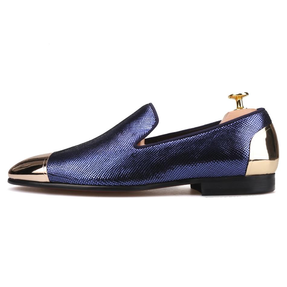 Piertar 새로운 스타일 3 색 격자 무늬 양모 남성 신발 앞면과 뒷면 금속 발가락 수제 연회 및 무도회 남성 로퍼-에서남성용 캐주얼 신발부터 신발 의  그룹 2