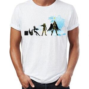 Image 4 - גברים של T חולצה Saint Seiya האבולוציה Ikki שון Shiryu Hyoga אנימה יצירות אמנות מדהים טי