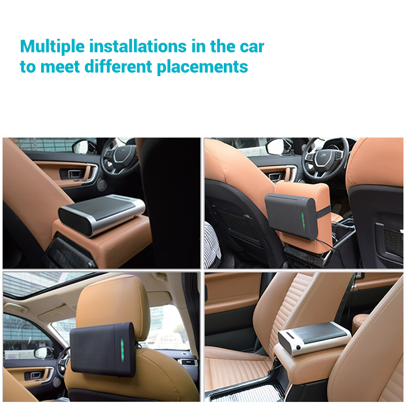 Mini Car Air Purifier with True HEPA Filter Car Air Freshener Remove Dust Pollen Smoke and Bad Odors Ionic Air Purifier Car Home
