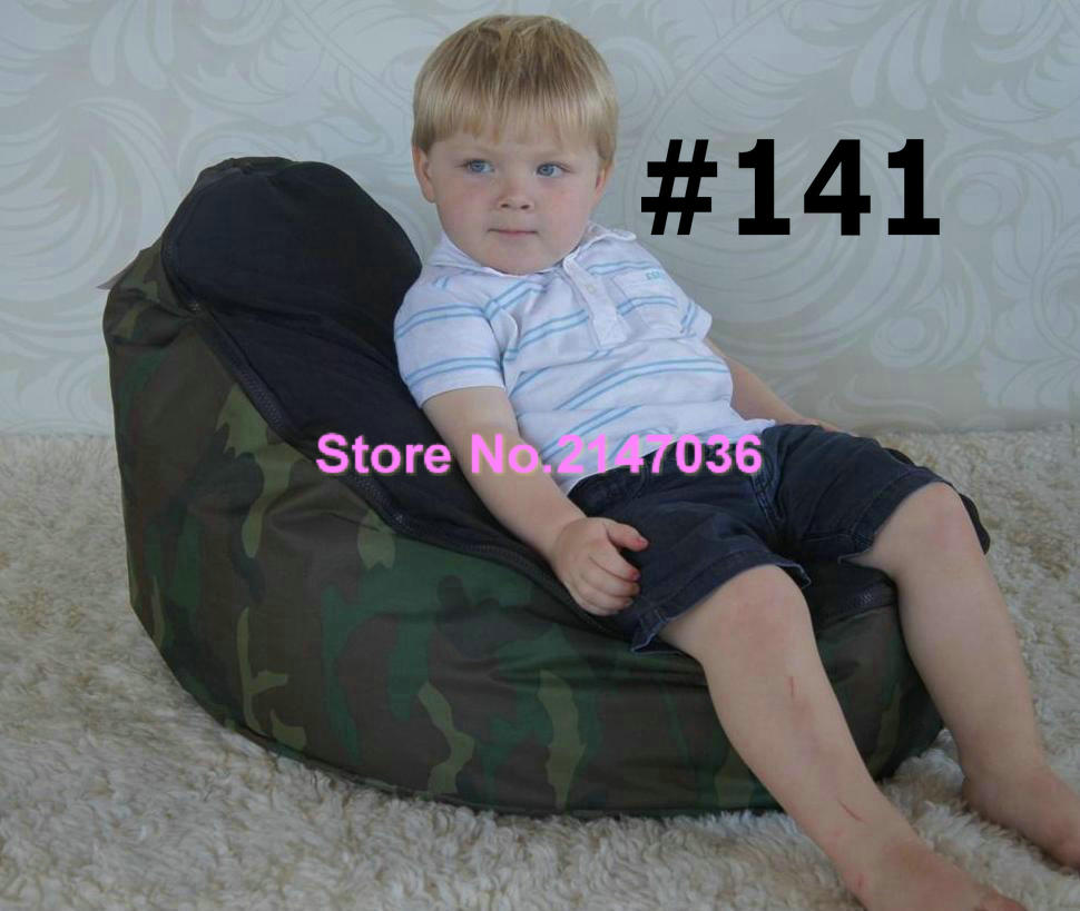 Waterproof Camouflage Military design Traditional beanbag good quality baby bean bag, kids beanbag sofa chair кольца для строп hemline 25 мм 2 шт