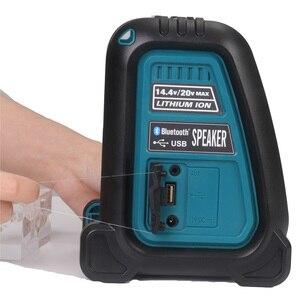 Image 5 - Altavoz MP3 con Bluetooth y batería de ion de litio, amplificador de altavoz, 15W, para Dewalt, Makita, Bosch, Milwaukee, 14,4 V, 18V