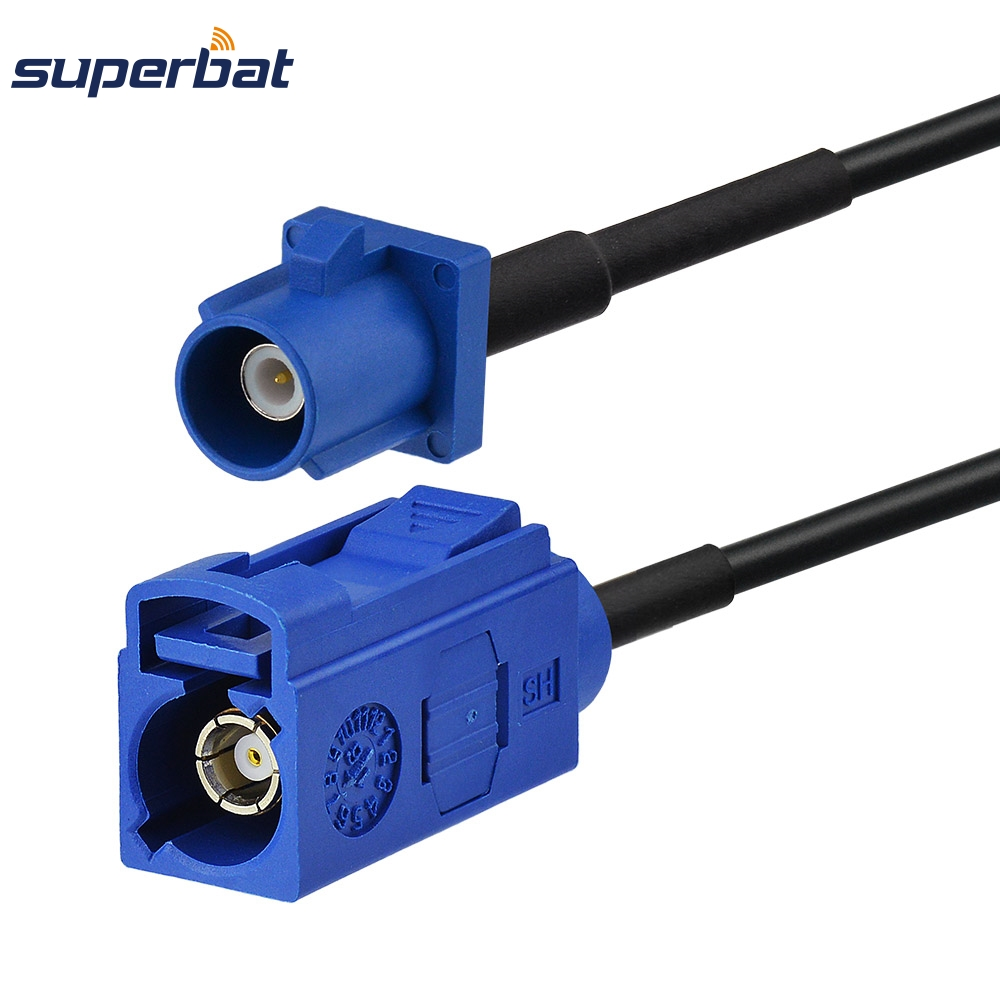 Superbat GPS Antenna Car Extension Cable Fakra C Male Plug to Female Jack Straight 50cm for Telematics or Navigation