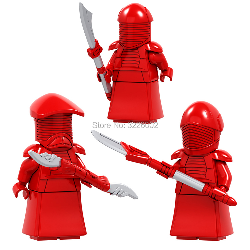 Hotsale Star Wars The Praetorian Guard Last Jedi Royal Guard Luke Skywalker Anakin Bricks Education Building Blocks Toys FIGURES kf949 super heroes star wars mr kentucky macdonald luke skywalker wolverine indiana jones collection building blocks gift toys