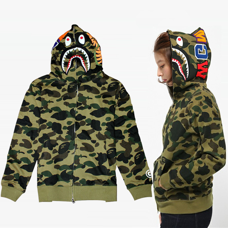 harajuku brand bape clothing for men camouflage hoodies