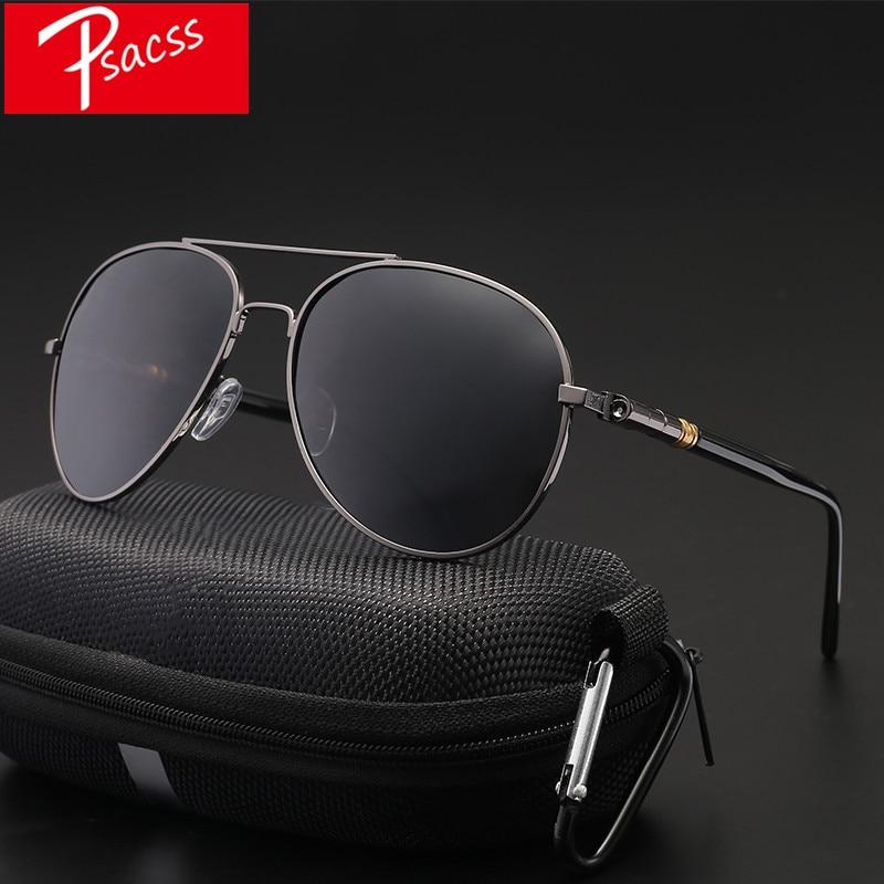 Psacss Classic Pilot Photochromic Sunglasses Men Driving Clear Polarized Lens Sun Glasses Male Vintage Brand Sunglass Oculos UV