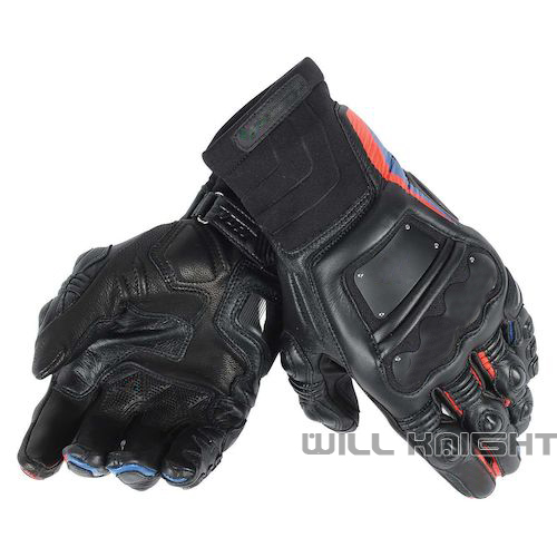 Gants de Motocross en Fiber de carbone en cuir véritable gants de course de moto