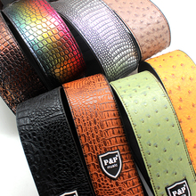Widen PU Leather Straps for Acoustic Electric Guitars bass Lizard Crocodile Ostrich Skin Adjustable Guitar Strap