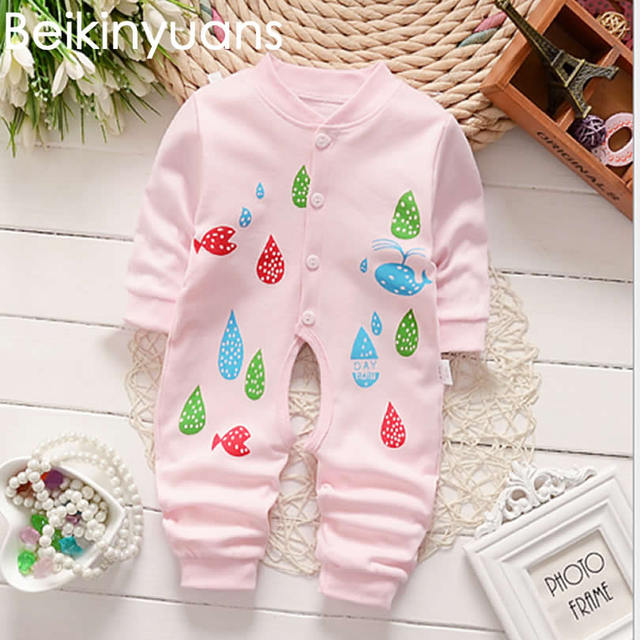 56e7110c4 Newborn baby Romper Cotton Cute Baby Clothes Infant Toddler Girls ...