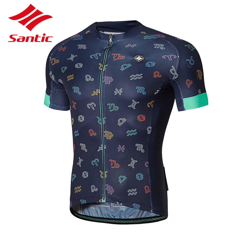 Santic 2018 Cycling Jersey Summer Men Short Sleeve Breathable MTB Road Bike Bicycle Clothes Downhill Riding Jersey Ropa Ciclismo santic men cycling jersey 2017 tour de france mtb road bike jersey anti shlip sleeve cuff bicycle top riding shirt cycle clothes