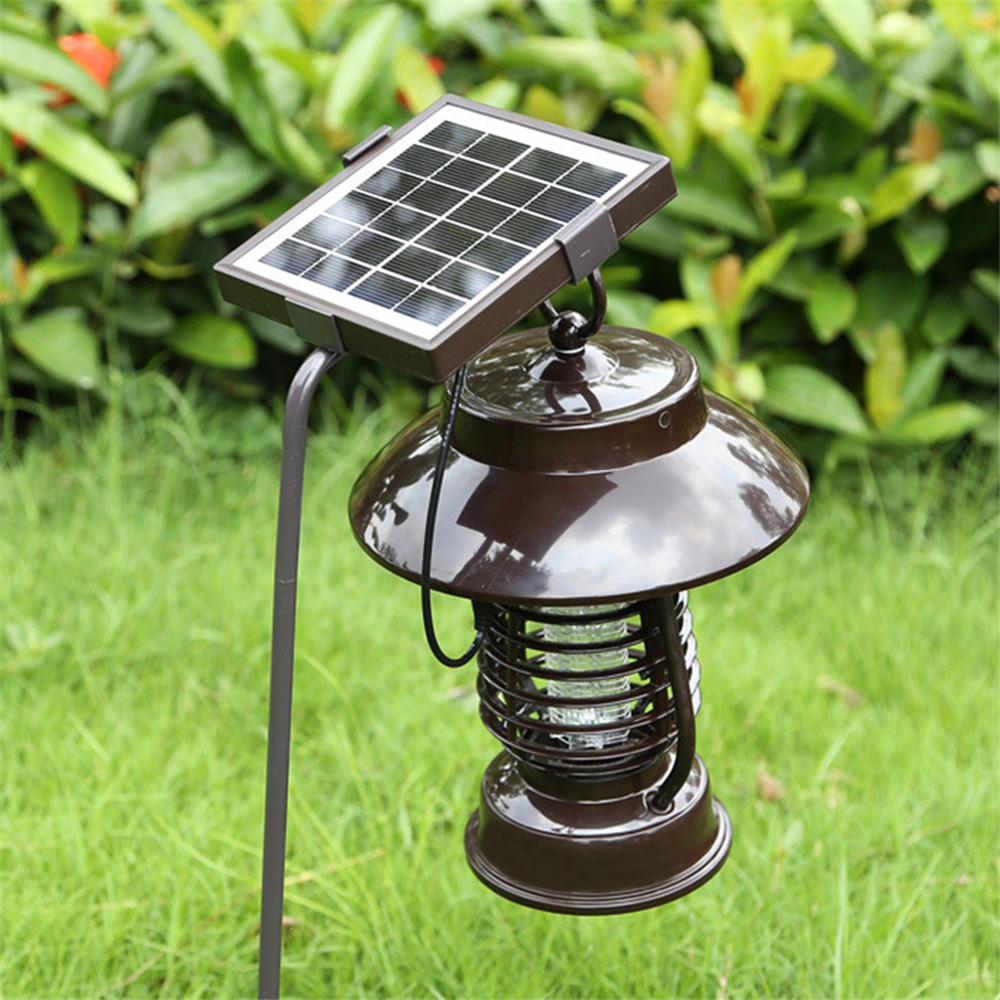 Solar or USB powered High Effect Mosquito Insect Killer Lamp UV Mosquito Repellent Light Outdoor Insect Pest Bug Zapper Killer