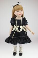 Nova chegada 18 polegada realista bebê reborn boneca american girl toys feita a partir de vinil silicone cheio com roupas bonitas e sapatos