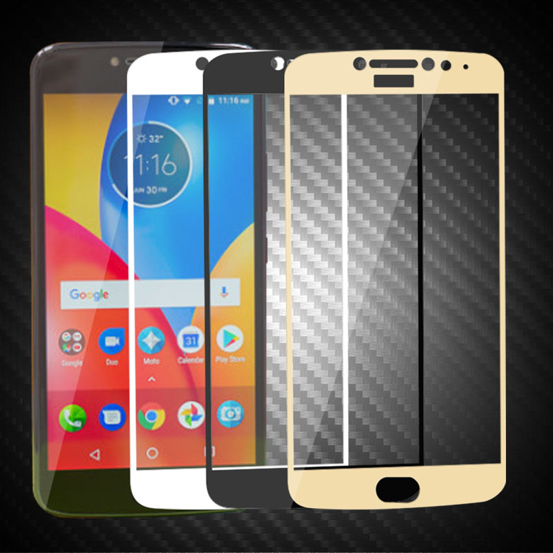 For Motorola Moto E4 Plus Screen Protector 9H Tempered Glass For Motorola E4 Plus Full Cover Protector Film For Moto E4 Plus