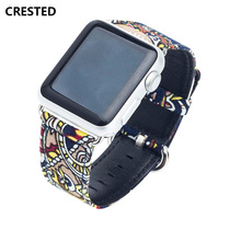 Canvas strap for Apple Watch Band iwatch 4 band 42mm 44mm 38mm 40mm bracelet colck watch accessories apple 3 2 1