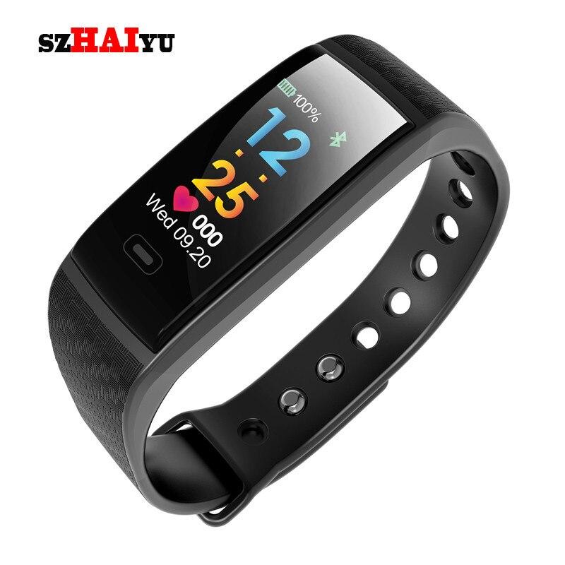 0-SZHAIYU цветной ЖК Смарт-часы Bacelet фитнес-трекер кровяное давление пульсометр Шагомер Bluetooth водонепроницаемый спортивный ремешок смотреть на Алиэкспресс Иркутск в рублях