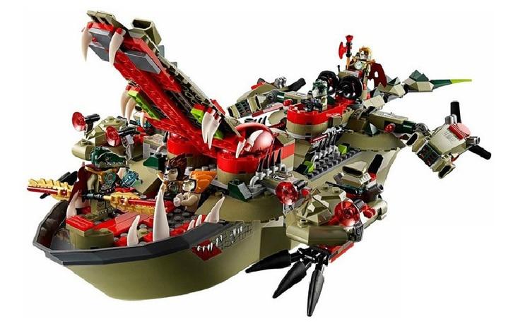 Conjunto de figuras de bloques de construcción 70006 de nave de mando de Cragger para niños BELA 10061-in Bloques from Juguetes y pasatiempos    3
