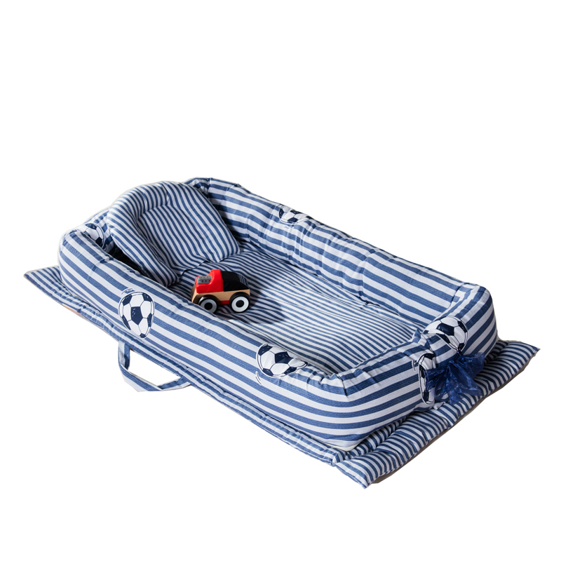 Portable Baby Bed Crib Newborn Infant Bedding Sleeping play mat Travel Bed with pillow цена 2017