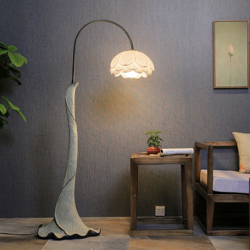 Creative Chinese Floor Lamps classical decorative lamp bedroom bedside lamp warm vertical eye beauty LU812258 french garden vertical floor lamp modern ceramic crystal lamp hotel room bedroom floor lamps dining lamp simple bedside lights