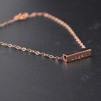 Wholesale Rose Gold 3D Bar Bracelet Engrave Words Custom Name Bracelet Cube Lucky Bracelet