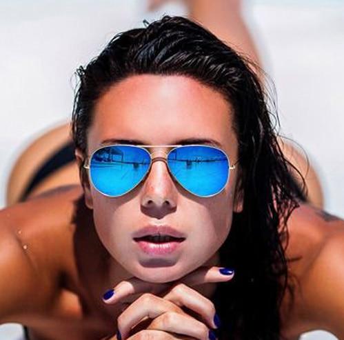2019 ماركة تصميم الصف الطيار النظارات النساء الرجال مرآة نظارات نقاط نظارات الشمس للنساء الإناث الذكور السيدات مكبرة