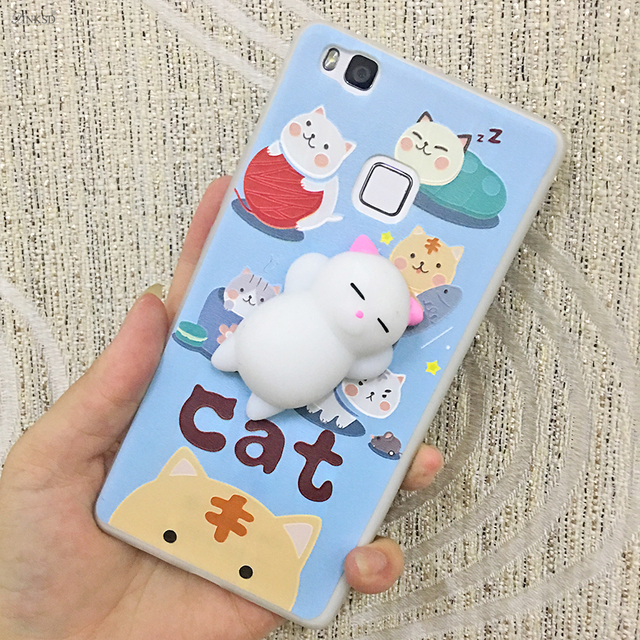 brand new 9c68a 96c9e US $3.99 |Cartoon Squishy Phone Case for Apple Iphone 8 Funny Squeeze 3D  Toy Folded Cute Soft Cloud Cover for Iphone 8 Fundas Capa-in Fitted Cases  ...