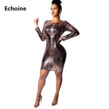 Women Sequin Print Sexy Mini Pencil Dress Sheath Bodycon Clubwear Outfit Short Evening Tight Night Vestidos