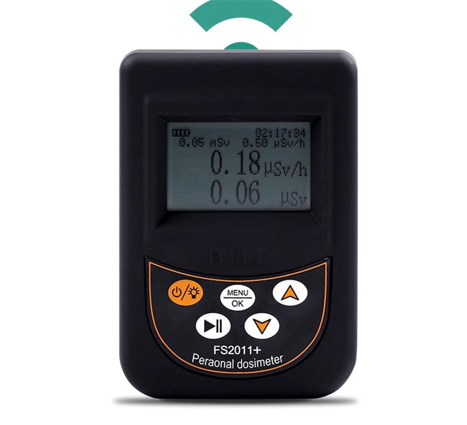 Détecteur de rayonnement nucléaire dosimètre compteur de rayonnement nucléaire FS2011 +