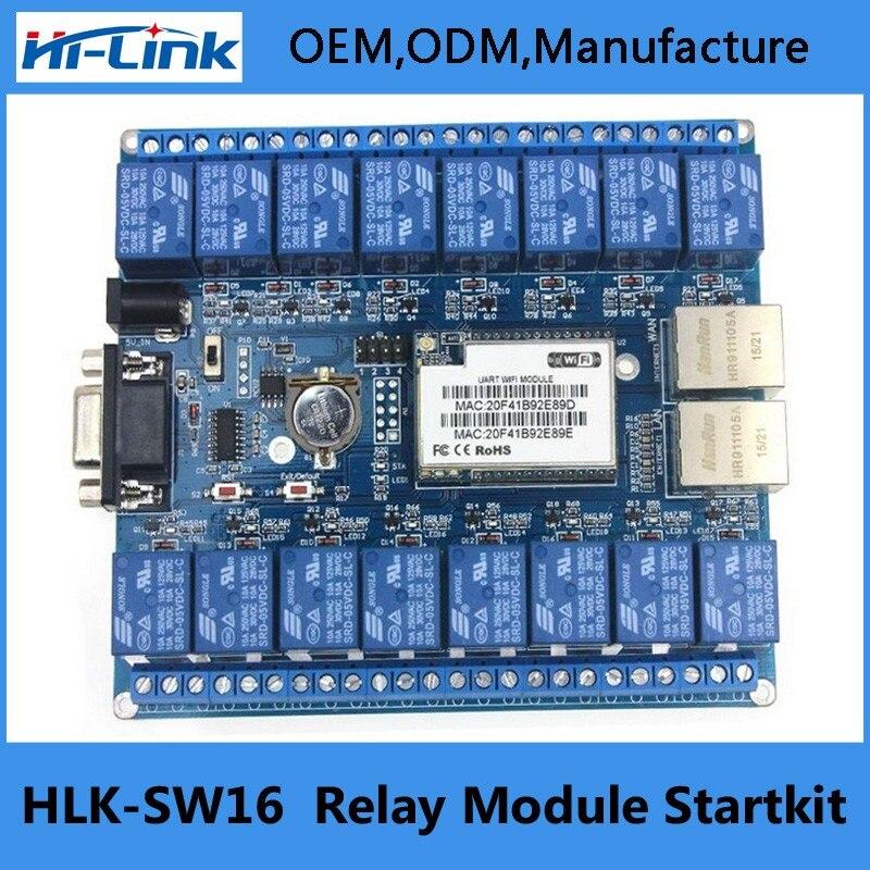 Besorgt Hlk-sw16 16 Kanal Fernbedienung Relais P2p Drahtlose Wifi Modul Bord Intelligente Netzwerk Relais Control Schalter 5 V Tcp/ip Rs232 Q132