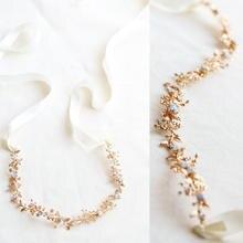 Hecho a mano lujoso Vintage rosa diadema de vid peine ópalo cristal tocado de corona para novias vestido de novia accesorios para el cabello