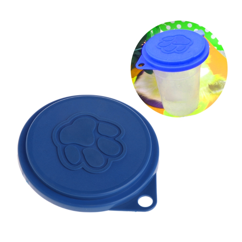 New Pet Food Can Cover Silicone Storage Cap Dog Cat Reusable Color Random Fresh Lid