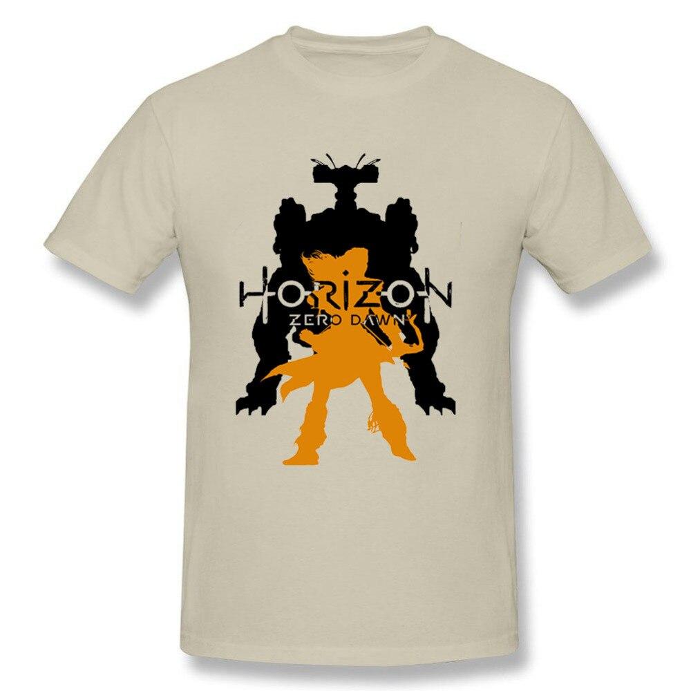 T Shirts Mens Horizon Zero Dawn Machine And Aloy Shirt Hot Selling