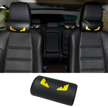 PU Leather Car Pillow Seat Neck Pillow Protection Safety Auto Headrest Cushion  Support Rest  Interior Moulding with Casual Type