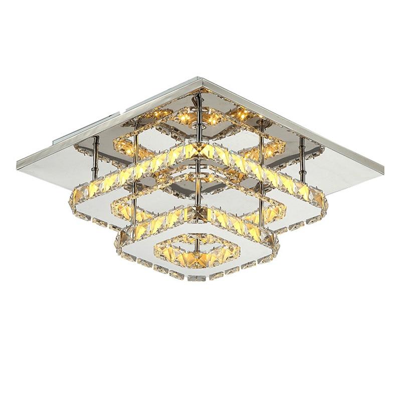 Modern Led Chandelier Led Lamps Living Room Bedroom Lighting Led K9 Crystal Chandelier Led Lustre Light Chandeliers 12w