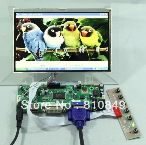 HDMI+DVI+VGA lcd Controller board+7inch HSD070PWW1 1280*800 IPS lcd panel переходник aopen hdmi dvi d позолоченные контакты aca311