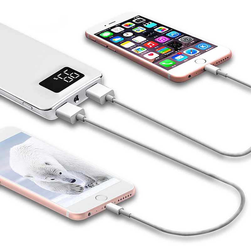 Advertising Cadillac Latest Collection Of Slim 30000mah Power Bank Portable Ultra-thin Polymer Powerbank Battery Poverbank 20000mah With Led Light For Mobile Phone