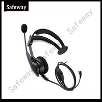5r uv איכות גבוהה אוזניות אוזניות 2 סיכות שני הדרך בום רדיו מיקרופון עם בקנה PPT עבור 888S טוקי טוקי Baofeng UV-5R, TYT WOUXUN (2)