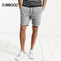 SIMWOOD 2017 Summer Casual Shorts Men Drawstring Elastic Waist Slim Fit Plus Size Brand Clothing XD017010