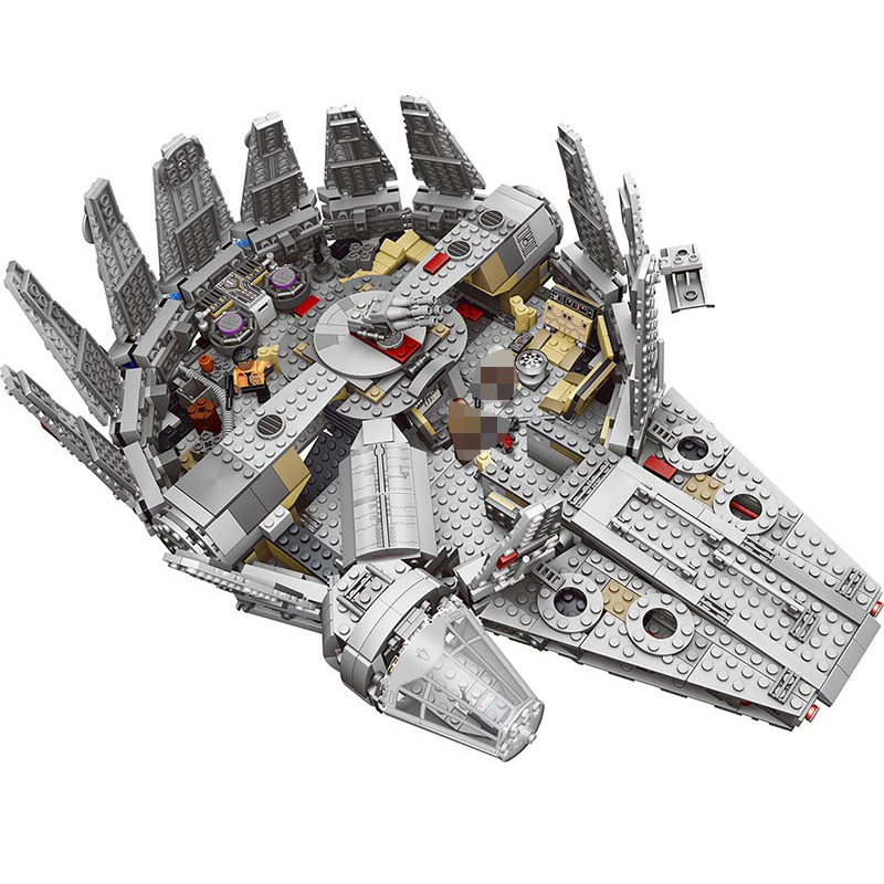 Force Awakens Stars Set Wars Series Compatible 79211 Millenniums Falcon Figures Model Building Blocks Toys For