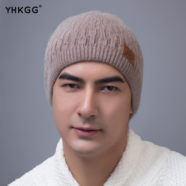 YHKGG 2016 New Fashion Woman's Warm Woolen Winter Hats Knitted Fur Cap For Woman  State Letter Skullies & Beanies
