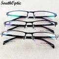 2016 nueva mitad borde de memoria de aleación de titanio de acero inoxidable ligero estupendo gafas 3 colores Prescription 901 Eyewear del marco óptico