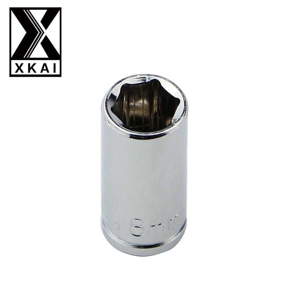 XKAI 1 4 8mm Socket Wrench head metric socket set socket end kit bolt hexagon allen