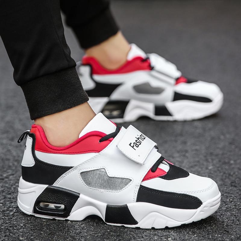 red forme Printemps Falt black Mâle Plate White Occasionnels Sneakers Respirant Creepers Maille En Casual Hommes Chaussures Caoutchouc Garçons Mode xqCUYAwq