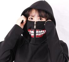 Anime Tokyo Ghoul Hoodies With Zip Up Mask Kaneki Ken Sweatshirts