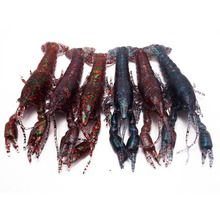 CATCHSIF 6pcs Ultra ture Life Craw lures 3D Crayfish Solid Soft fishing baits 4.7inch 0.65oz